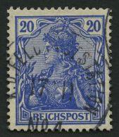 DP CHINA P Vd O, Petschili: 1900, 20 Pf. Reichspost, Stempel K.D. FELD-POSTSTATION No. 4, Pracht, Signiert, Mi. 140.-