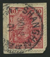 DP CHINA P Vc BrfStk, Petschili: 1900, 10 Pf. Reichspost, Stempel SHANGHAI DP *b, Prachtbriefstück