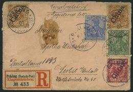 DP CHINA P Vb,d BRIEF, Petschili: 1901, 5 Und 20 Pf. Reichspost Mit Zusatzfrankatur (2x Mi.Nr. 1IIb Und 3IIa) Auf ü