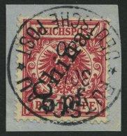 DP CHINA 7II BrfStk, 1900, 5 Pf. Auf 10 Pf. Steiler Aufdruck, Prachtbriefstück, Signiert U.a. Pauligk, Mi. (1000.-)