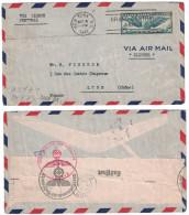 USA - 1941 LETTRE Pour LYON FRANCE Avec CENSURE MILITAIRE ALLEMANDE NAZI VIA LISBON & AIR MAIL CLIPPER NEW YORK - Briefe U. Dokumente
