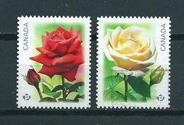 2014 Canada Complete Set Roses,rozen Used/gebruikt/oblitere