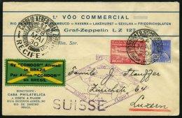 ZEPPELINPOST 59B BRIEF, 1930, Heimfahrt, Frankiert Mit 10000 Rs., Prachtbrief In Die Schweiz