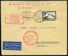 ZEPPELINPOST 57R BRIEF, 1930, Südamerikafahrt, Berlin-Pernambuco, Brief Leichte Bedarfsspuren, Marke Pracht
