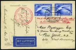 ZEPPELINPOST 57N BRIEF, 1930, Südamerikafahrt, Tagesstempel, Fr`hafen-Lakehurst, Prachtkarte