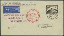 ZEPPELINPOST 57M BRIEF, 1930, Südamerikafahrt, Tagesstempel, Fr`hafen-Rio De Janeiro, Prachtbrief