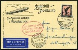ZEPPELINPOST 56B BRIEF, 1930, Schweizfahrt, Bordpost, Prachtkarte