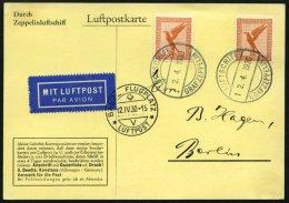 ZEPPELINPOST 51C BRIEF, 1930, Schweizfahrt, Abwurf Basel, Bordpost, Mit Mehrfachfrankatur Mi.Nr. 381, Prachtkarte