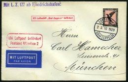 ZEPPELINPOST 44B BRIEF, 1929, Spanienfahrt, Bordpost, Prachtbrief