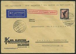 ZEPPELINPOST 43AII BRIEF, 1929, Schlesienfahrt, Abwurf Breslau, Auflieferung Fr`hafen, Mit Tagesstempel-Irrtum 7.Sept. 1