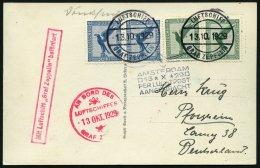 ZEPPELINPOST 41B BRIEF, 1929, Hollandfahrt, Abwurf Amsterdam, Bordpost, Eine 5 Pf.-Marke Mängel Sonst Prachtkarte
