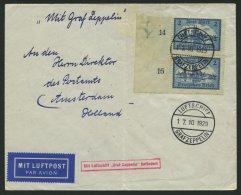 ZEPPELINPOST 41 BRIEF, 1929, Hollandfahrt, Wegen Verbleib An Bord Am 17.10. Als Bordpost (Sieger 43B) über Breslau