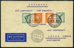 ZEPPELINPOST 35g BRIEF, 1929, 1. Schweizfahrt, Abwurf Lausanne, Prachtkarte