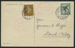 ZEPPELINPOST 33o BRIEF, 1929, Deutschlandfahrt, Abwurf Rothenburg O.d.T., Prachtkarte, R!