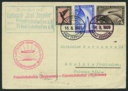 ZEPPELINPOST 30Bd BRIEF, 1929, Weltrundfahrt, Bordpost, Friedrichshafen - Friedrichshafen, Mit Grünem Leitstempel,