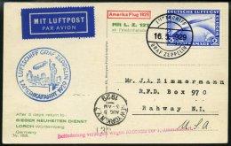 ZEPPELINPOST 26B BRIEF, 1929, Amerikafahrt, Bordpost, Frankiert Mit 2 RM, Prachtkarte