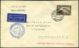 ZEPPELINPOST 26A BRIEF, 1929, Amerikafahrt, Auflieferung Fr`hafen, Frankiert Mit 4 RM, Prachtbrief
