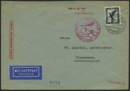 ZEPPELINPOST 23IA BRIEF, 1929, Orientfahrt, Auflieferung Fr`hafen, Frankiert Mit Einzelfrankatur Mi.Nr. 383, Pracht