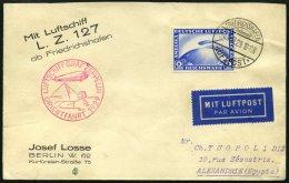 ZEPPELINPOST 23IA BRIEF, 1929, Orientfahrt, Auflieferung Fr`hafen, Frankiert Mit Einzelfrankatur 2 RM Auf Brief Nach Ale