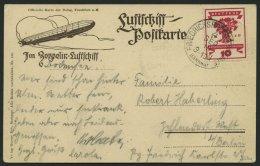ZEPPELINPOST 19C BRIEF, 1919, Luftschiff Bodensee, Poststempel Friedrichshafen, Prachtkarte, Gepr. Sieger