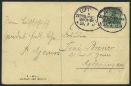 ZEPPELINPOST 8 BRIEF, 1913, Luftschiff Sachsen, Bordpoststempel, Private Künstlerkarte Vom 25.5.13, Feinst