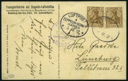 ZEPPELINPOST 6Ia BRIEF, 1912, Luftschiff Hansa, Fahrt Hamburg-Lüneburg-Hamburg Vom 5.10.1912, Mit Bord- Und Bordpos