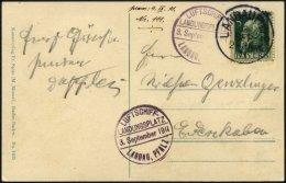 ZEPPELINPOST 2II BRIEF, 1911, Luftschiff Schwaben, Fahrt Von Der Landau-Landungsfahrt Mit Privatem Landungsplatz-Stempel