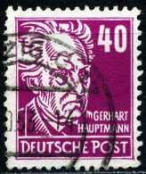 A11-39-60) DDR Michel 336 - OO Gestempelt (C) - 40Pf  Gerhart Hauptmann