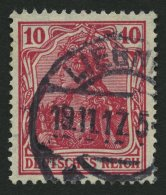 Dt. Reich 86IId O, 1915, 10 Pf. Karmin Kriegsdruck, Pracht, Gepr. Jäschke, Mi. 110.-
