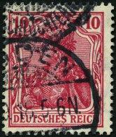 Dt. Reich 86IId O, 1915, 10 Pf. Karmin Kriegsdruck, Pracht, Gepr. Jäschke-L., Mi. 110.-
