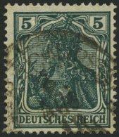 Dt. Reich 85IIe O, 1918, 5 Pf. Schwarzopalgrün Kriegsdruck, Pracht, Gepr. Jäschke-L., Mi. 100.-