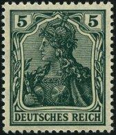 Dt. Reich 85IIe **, 1918, 5 Pf. Schwarzopalgrün Kriegsdruck, Pracht, Gepr. Jäschke-L., Mi. 400.-