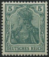 Dt. Reich 85IId **, 1915, 5 Pf. Bläulichgrün Kriegsdruck, Pracht, Gepr. Jäschke-L., Mi. 50.-