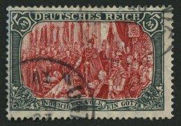 Dt. Reich 97AIa O, 1906, 5 M. Friedensdruck, Gelblichrot Quarzend, üblich Gezähnt Pracht, Gepr. Jäschke,