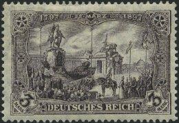 Dt. Reich 96AIb *, 1912, 3 M. Schwarzbraunviolett Friedensdruck, Falzrest, Pracht, Mi. 70.-
