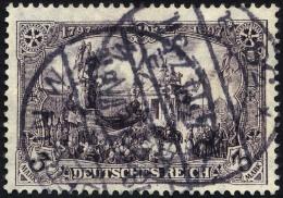 Dt. Reich 96AIa O, 1911, 3 M. Schwärzlichviolett Friedensdruck, Pracht, Gepr. Jäschke-L., Mi. 65.-