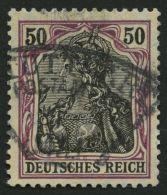 Dt. Reich 91Iy O, 1912, 50 Pf. Auf Orangeweiß Friedensdruck, Pracht, Gepr. Zenker, Mi. 100.-