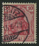 Dt. Reich 86Ic O, 1911, 10 Pf. Karmin Friedensdruck, Pracht, Gepr. Dr. Hochstädter, Mi. 200.-