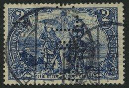 Dt. Reich 79 O, 1902, 2 M. Gotische Inschrift Mit Lochung B.L.A., Feinst, Gepr. Dr. Oechsner, Mi. 130.-