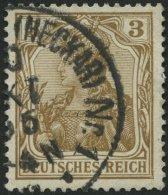 Dt. Reich 69b O, 1904, 3 Pf. Braunocker, Pracht, Gepr. Jäschke-L., Mi. 55.-