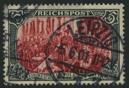 Dt. Reich 66IV O, 1900, 5 M. Reichspost, Type I, Nachmalung Nur Mit Deckweiß, Pracht, Fotoattest Jäschke-L.,