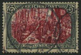 Dt. Reich 66III O, 1900, 5 M. Reichspost, Type I, Nachmalung Mit Rot Und Deckweiß, Pracht, Gepr. Dr. Hochstäd