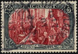Dt. Reich 66II O, 1900, 5 M. Reichspost, Type II, Pracht, Fotoattest Jäschke, Mi. 500.-