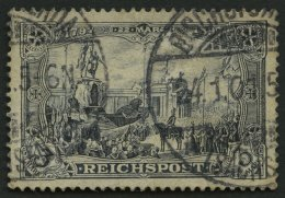 Dt. Reich 65II O, 1900, 3 M. Reichspost, Type II, Normale Zähnung, Pracht, Gepr. Zenker, Mi. 80.-