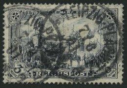 Dt. Reich 65I O, 1900, 3 M. Reichspost, Type I, Pracht, Gepr. Jäschke, Mi. 60.-