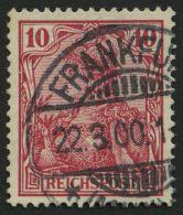 Dt. Reich 56b O, 1900, 10 Pf. Rotkarmin, Pracht, Gepr. Jäschke-L., Mi. 100.-