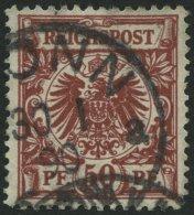 Dt. Reich 50ab O, 1889, 50 Pf. Dunkelfeuerrot, Pracht, Gepr. Zenker, Mi. 280.-