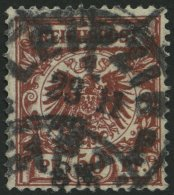 Dt. Reich 50aa O, 1889, 50 Pf. Weinrot, Kleine Dünne Stelle Sonst Pracht, Fotobefund Wiegand, Mi. 2000.-