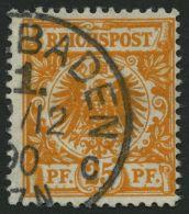Dt. Reich 49aa O, 1890, 25 Pf. Goldgelb, Pracht, Gepr. Zenker, Mi. 450.-