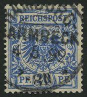 Dt. Reich 48c O, 1891, 20 Pf. Preußischblau, Pracht, Gepr. Zenker, Mi. 150.-